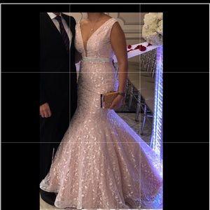 Jovani blush gown